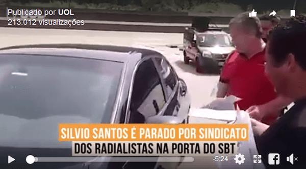 """Radialistas fazem reivindicações ao """"patrão"""" Silvio Santos na frente do SBT"""